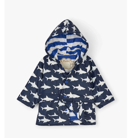Hatley Colour Changing Shark Frenzy Baby Raincoat