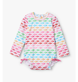 Hatley Watercolour Fishies Baby Rashguard Suit