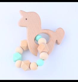 Silicone/Wood Unicorn Teether