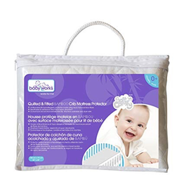 Baby Works Quilted & Fitted Bamboo Mattress Protector