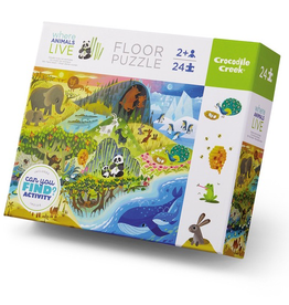 Crocodile Creek Early Learning - Where Animals Live 24pc