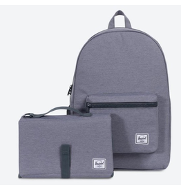 Herschel Settlement Sprout Diaper Bag Grey Crosshatch