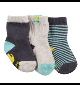 Robeez Shoes Sock 3pk - Eli Elephant