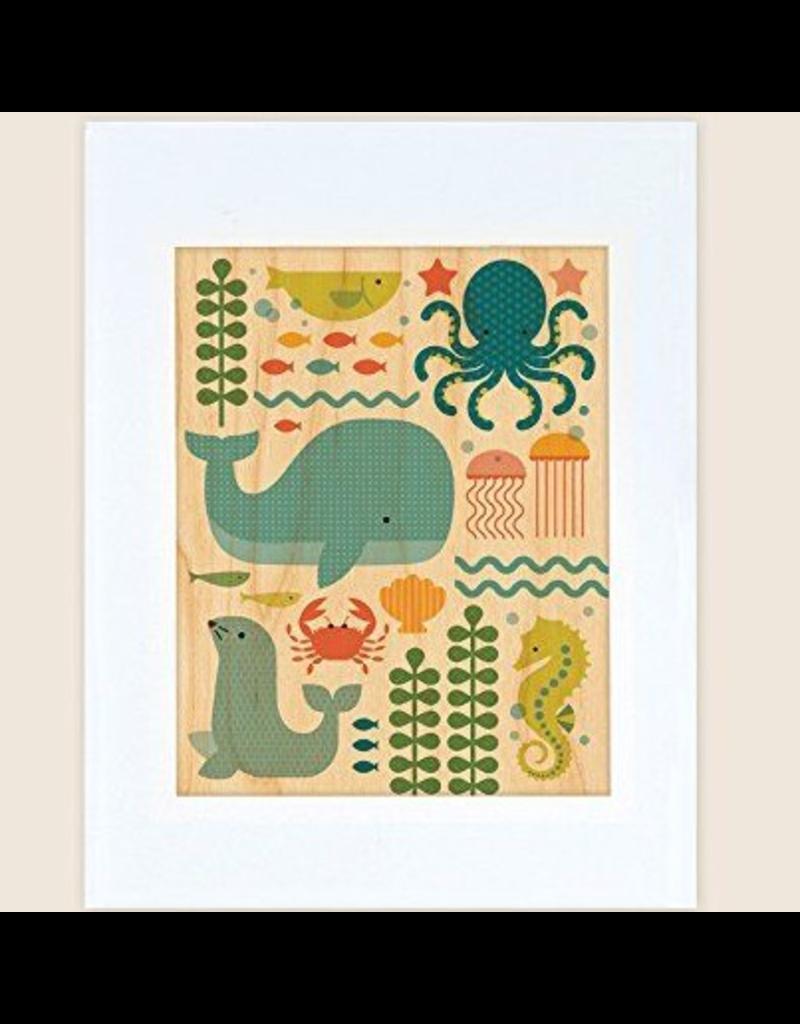 Petit Collage Ocean Parade Print 11x14