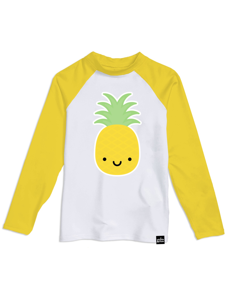 Whistle & Flute Kawaii Pineapple LS Rashguard