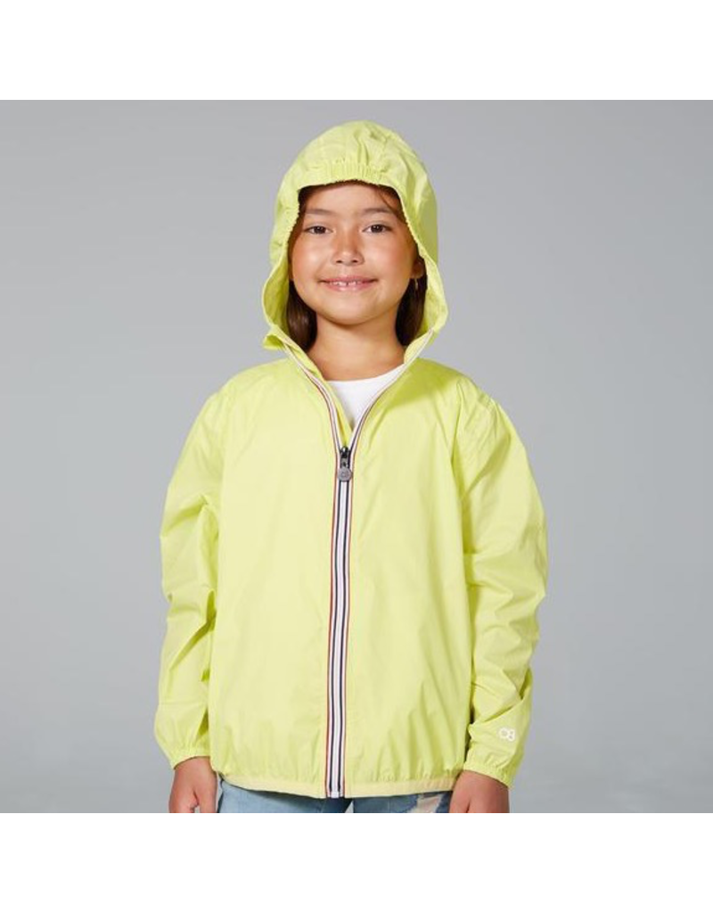 O8 Lifestyle Packable Rain Jacket Citrus