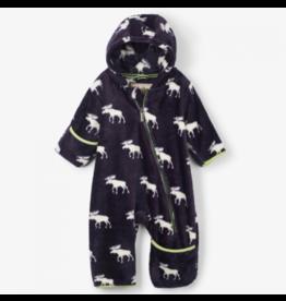 Hatley Moose Silhouettes Fleece Baby Bundler