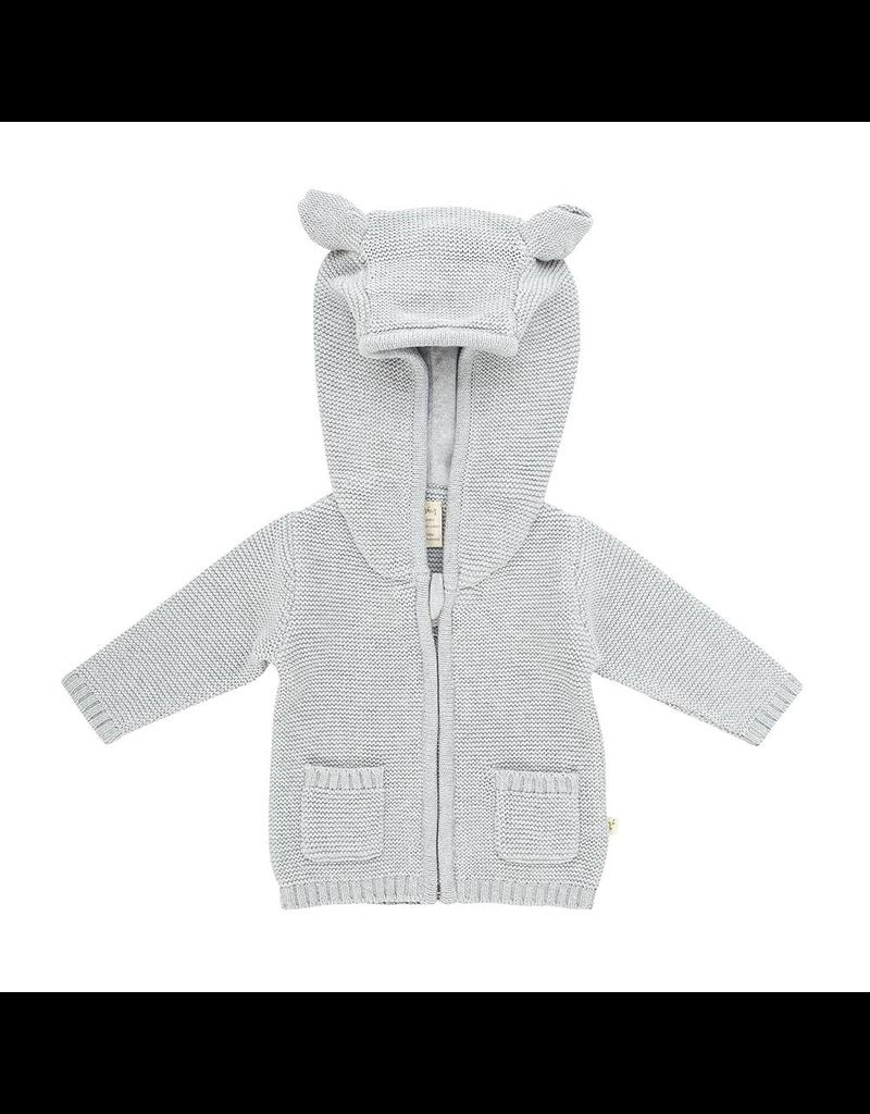 Organic Knit Bear Cardigan