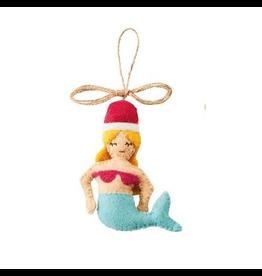 Mermaid Felt Ornament