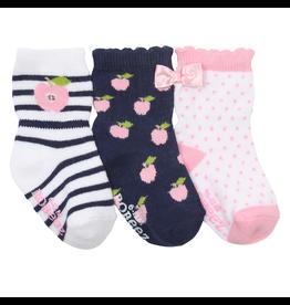 Robeez Shoes Girl's Sock 3pk - Apple Pickin'