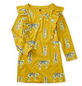 Tea Collection Leopard Cats Ruffle Dress