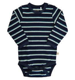 Minymo Organic Space Stripes LS Bodysuit