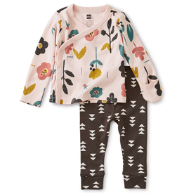 Tea Collection Blooms Wrap Top Baby Outfit