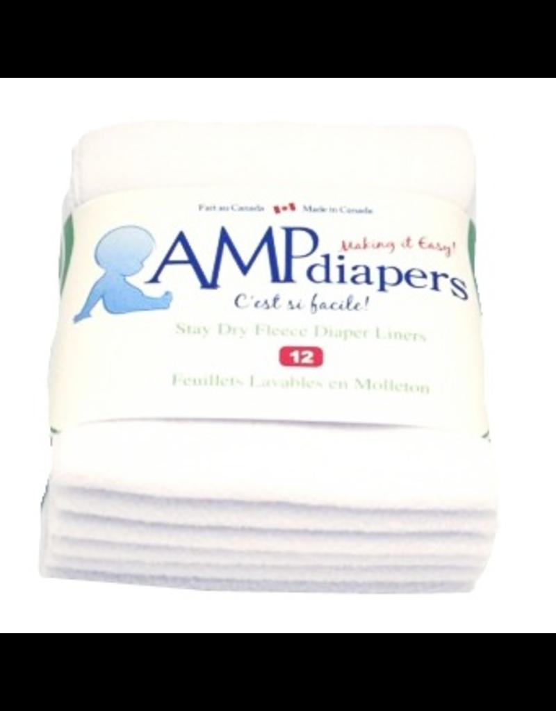 AMP Diapers AMP Fleece Liners 12pk