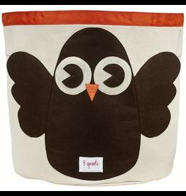 3 Sprouts Storage Bin Owl