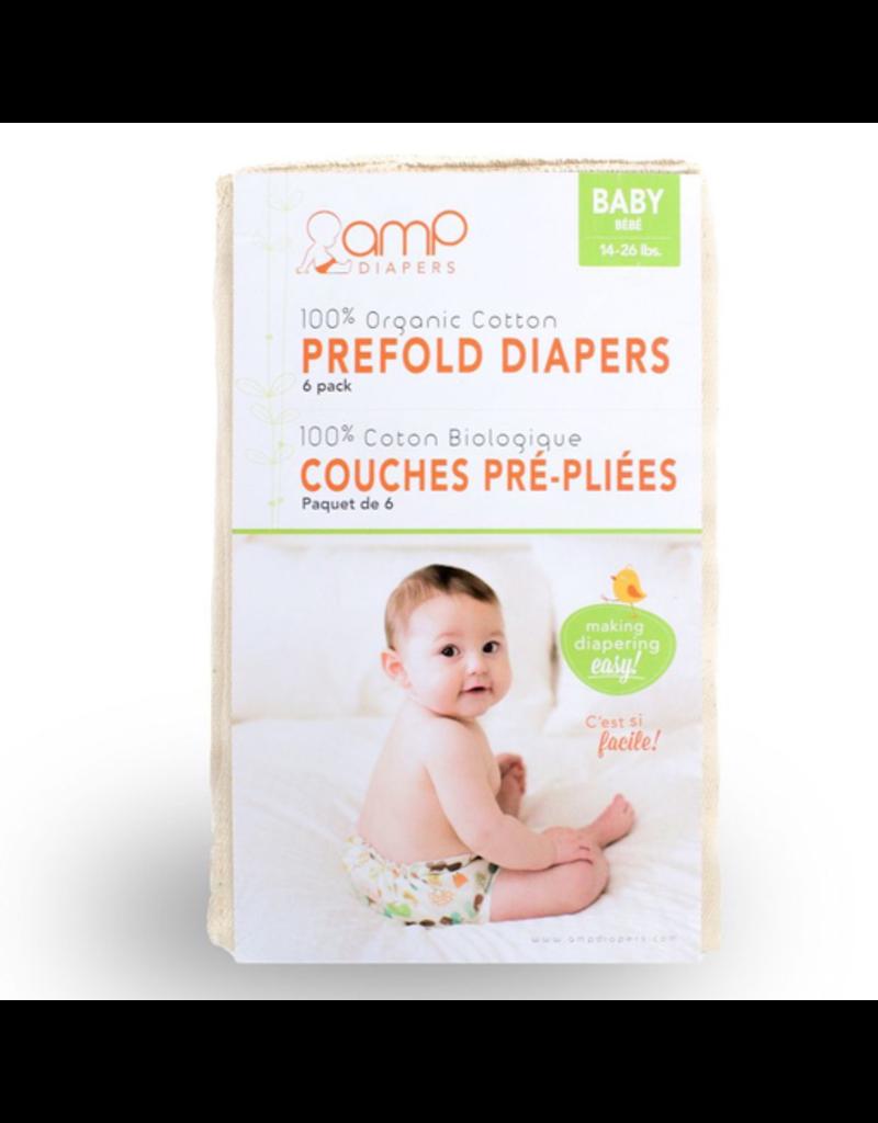 AMP Baby Organic Cotton Prefolds