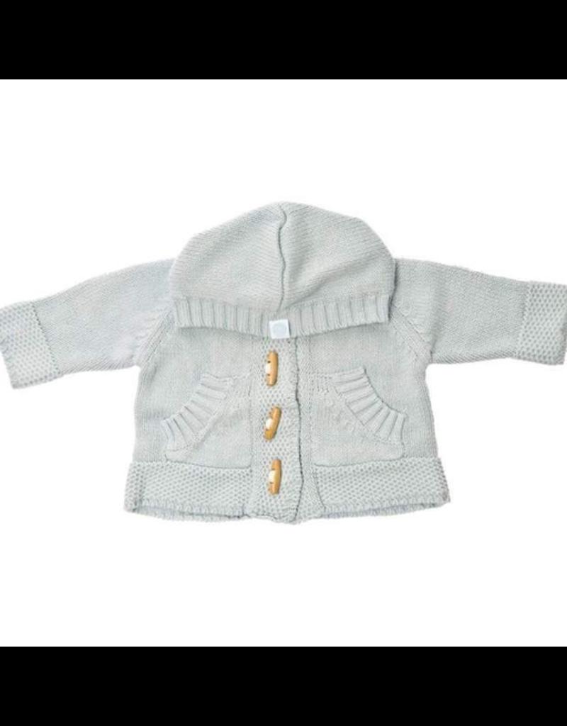 Beba Bean Knit Hoodie Baby Blue