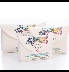 Bummis Bummis Organic Prefold Diapers Infant, 8-15lbs, 6pk