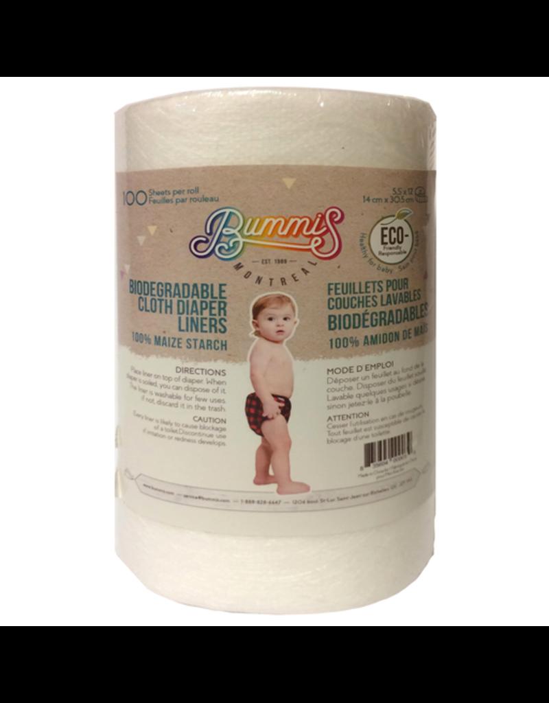 """Bummis Bummis Biodegradable Liner, 100, 5.5 x 12"""""""