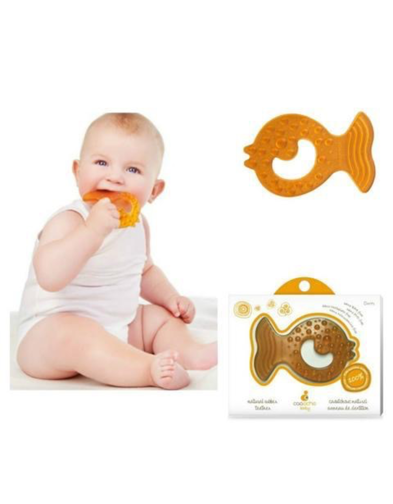 Natural Rubber All-Stage Teether Fish