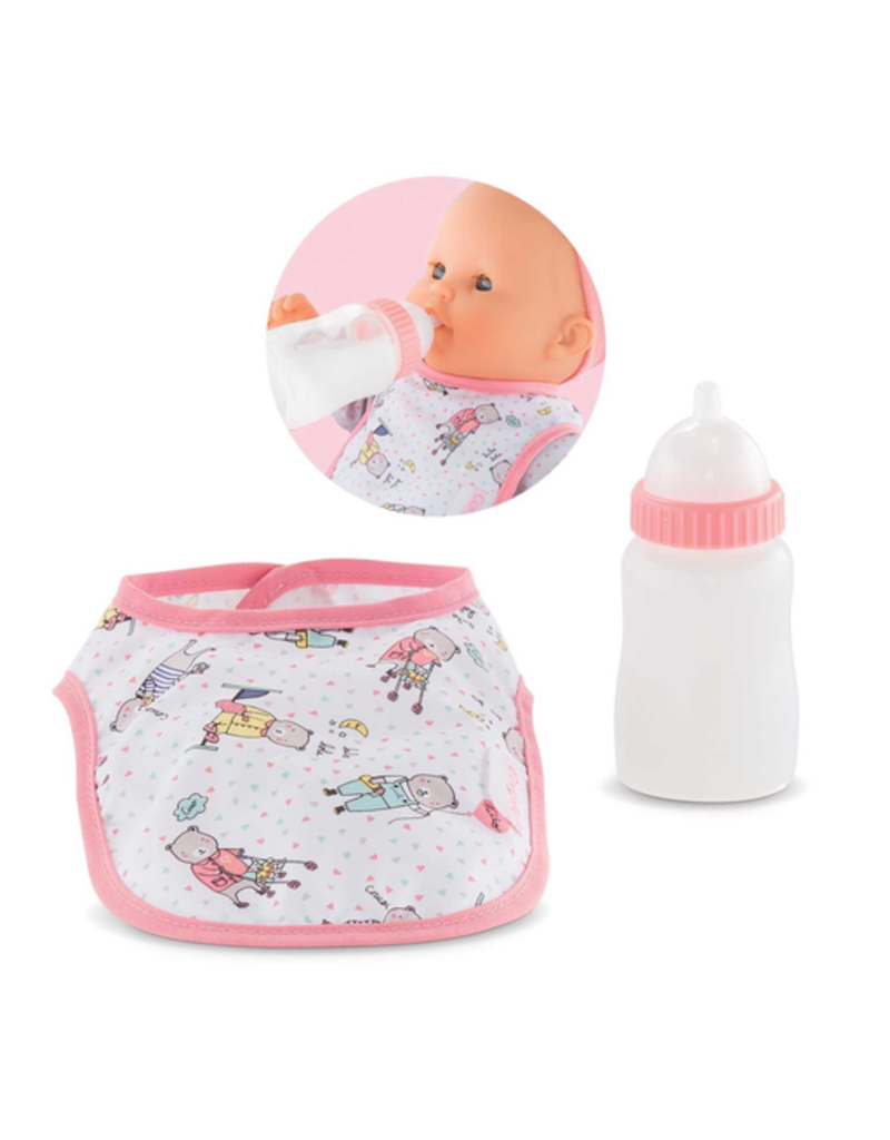 Corolle Bib & Magic Milk Bottle