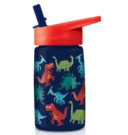 Crocodile Creek Tritan Water Bottle - Dinosaur World