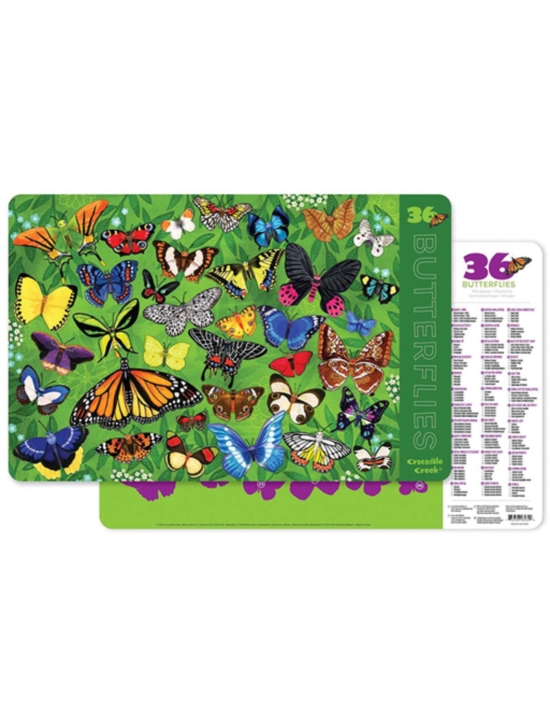 Crocodile Creek Placemat - 36 Butterflies