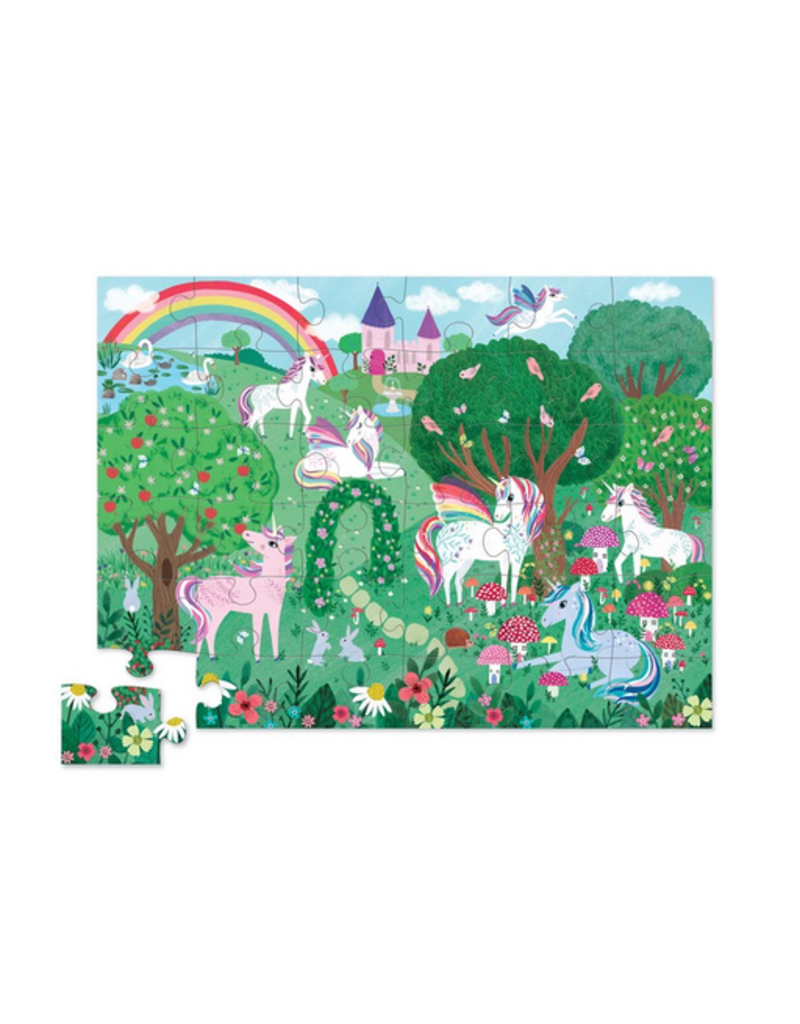 Crocodile Creek 36pc Puzzle - Unicorn Garden