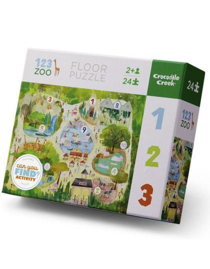 Crocodile Creek Early Learning - 123 Zoo Puzzle 24pc