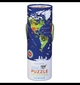 Crocodile Creek 200pc Puzzle + Poster - World Animal