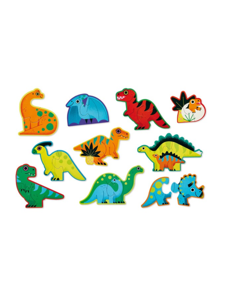 Crocodile Creek Let's Begin 2pc Puzzles - Dinosaurs