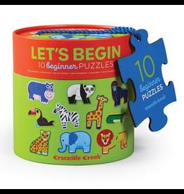 Crocodile Creek Let's Begin 2pc Puzzles - Jungle