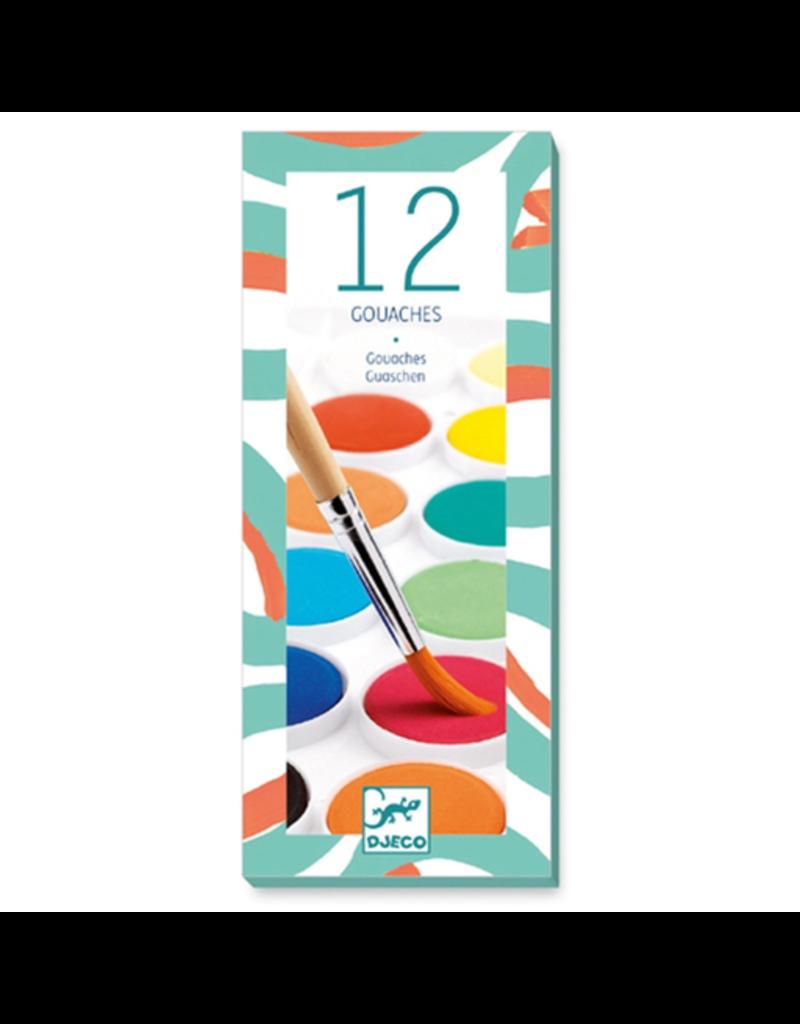 Djeco 12 Color Cakes - Classic