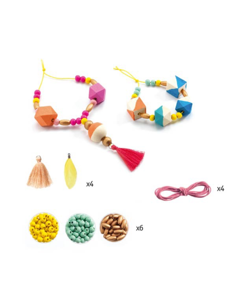 Djeco DIY Wooden Beads & Cubes