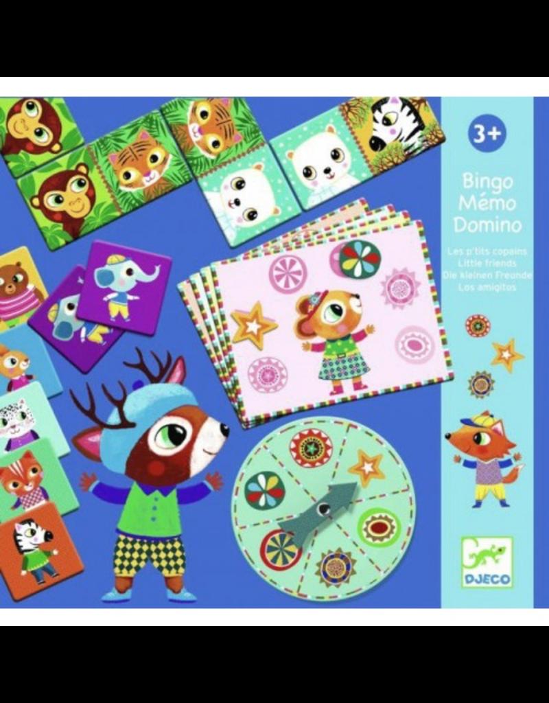 Djeco Little Friends Bingo/Memory/Dominos