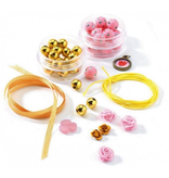 Djeco Pearls & Flowers Jewelry Making Set