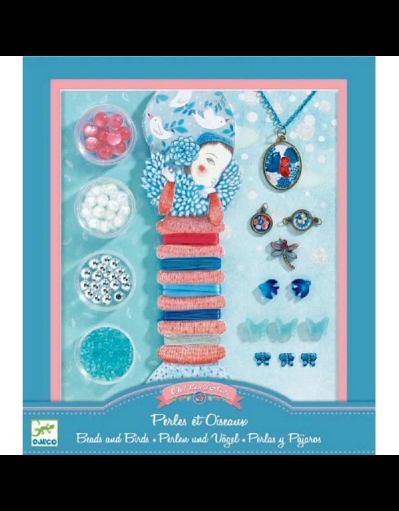 Djeco Pearls & Birds Jewelry Making Set
