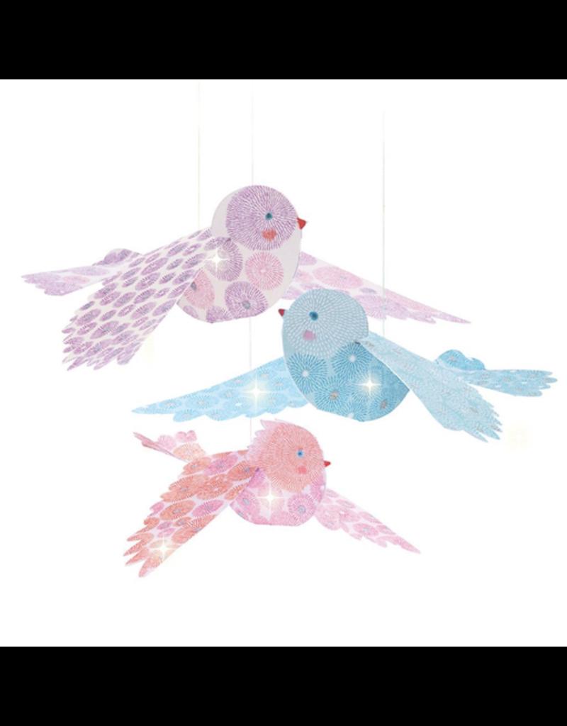 Djeco Lighweight - Glitter Birds Mobile