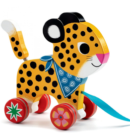 Djeco Pull Along Toy - Greta Leopard