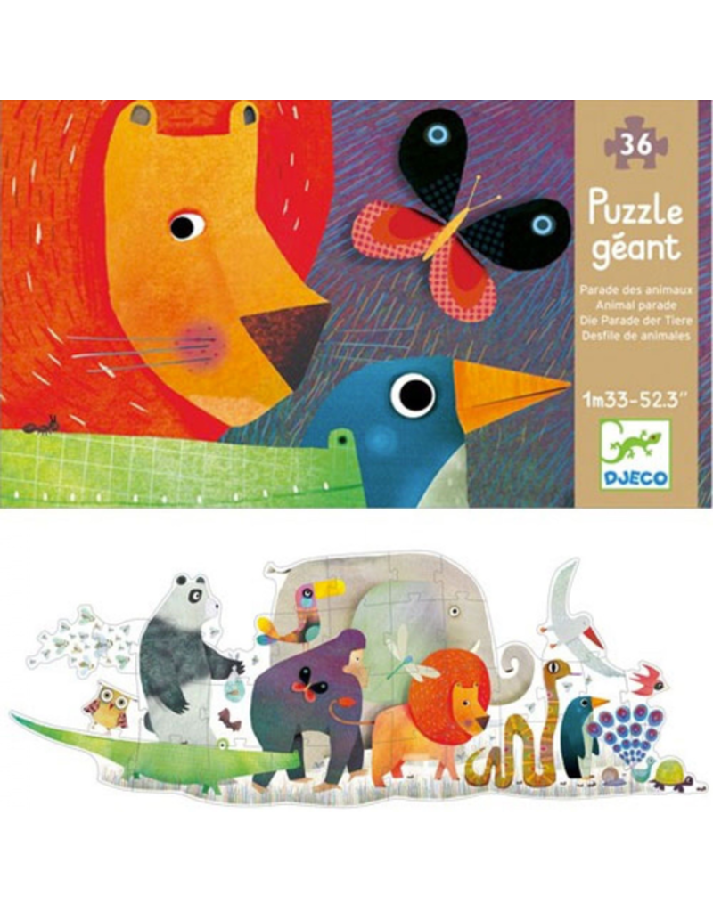 Djeco Giant Puzzle - Animal Parade 36pc
