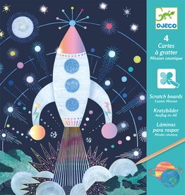 Djeco Scratch Cards - Cosmic Mission 6y