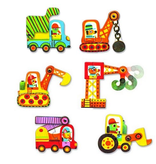 Djeco Puzzle Duo Moving Vehicles