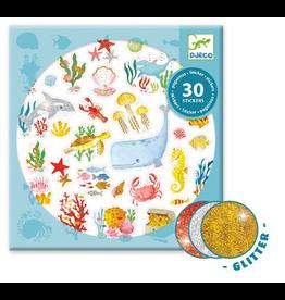 Djeco Stickers 30pk - Aqua Dream