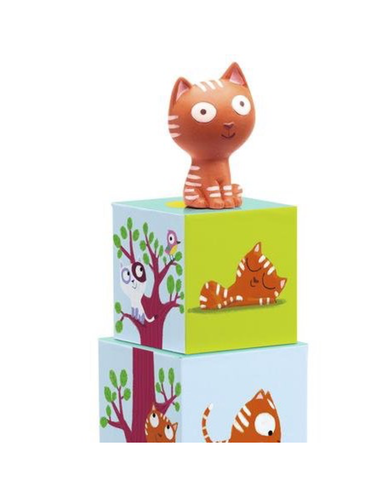 Djeco Catibloc Stacking Cubes + Cats