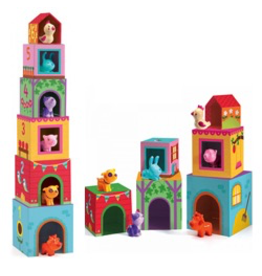 Djeco Topanifarm Stacking Cubes & Animals
