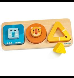 Djeco VoluBasic Animal Puzzle 12m+