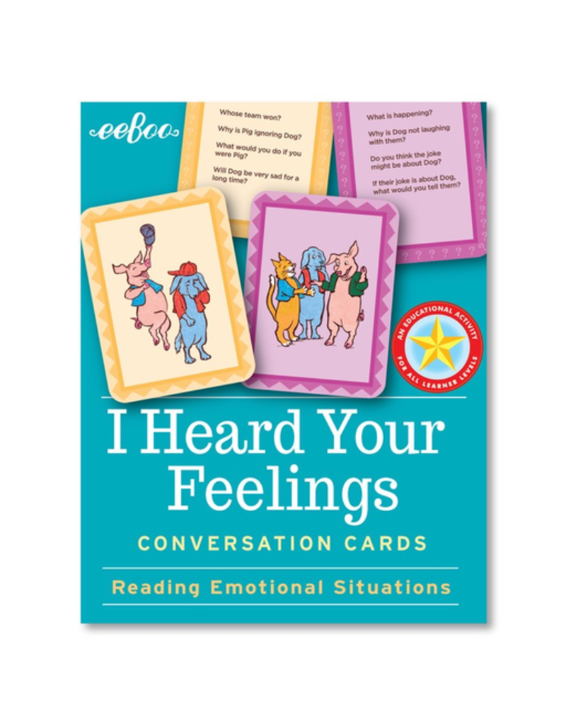 Eeboo I Heard Your Feelings Hardbox Flashcards