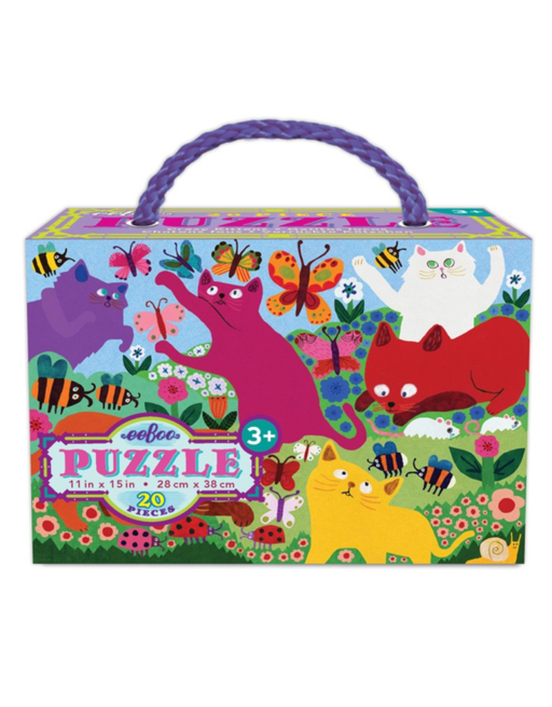 Eeboo Crazy Kittens Puzzle 20pc