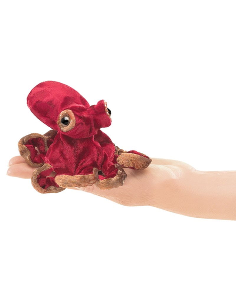 Folkmanis Mini Red Octopus Finger Puppet