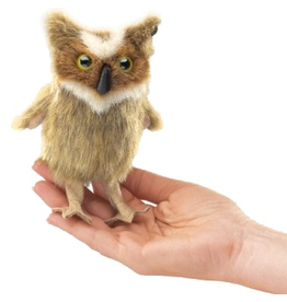 Folkmanis Finger Puppet - Great Horned Owl
